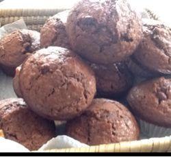 Muffins gruau et cacao
