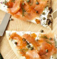 SALMON - Smoked Salmon Flatbread Pizzas